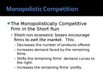 A Level / IB / AP Economics Market Structures Monopolistic Competition PPT