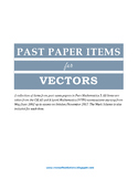 A Level Math Topical Past Paper Items for VECTORS (Paper 3