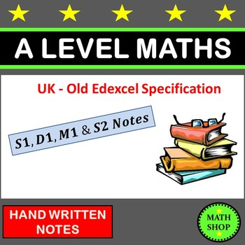 A Level Maths Revision - S1, D1, M1, S2 - Things to Learn