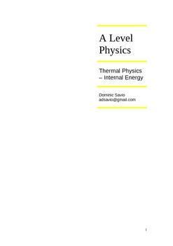 A Level Thermal Physics_Internal Energy
