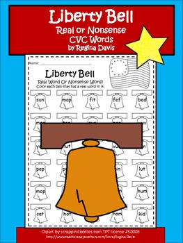 A + Liberty Bell: Real Or Nonsense Words