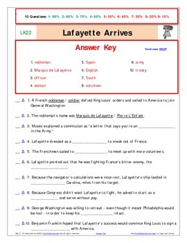 A Liberty's Kids ** Episode 21-40 - Worksheet, Ans Sheet, Two Quizzes-LK2140