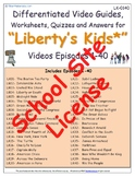 1 SSL- SCHOOL SITE LICENSE - Liberty's Kids ** - Episodes 01-40