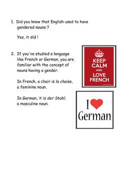 A Light History of the English Language For French * Class