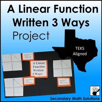 A Linear Function Written 3 Ways Project