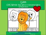 A + Lion CVC Word Sort: Real Or Nonsense Words