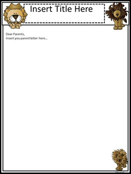 A+ Lion: *EDITABLE* Papers For Teacher News and Notes To Parents