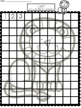 A+ Lion: Numbers 100 and 120 Chart