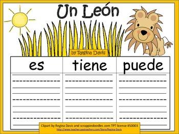 A+ Lion: Un Leon...Three Spanish Graphic Organizers