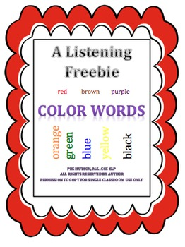 A Listening Story: Color Words