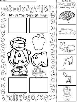 """A+ Literacy With """"Aa"""" Small Group Centers & Morning Work"""