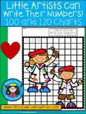 A+ Little Artists Can Write: Numbers 100 and 120 Chart
