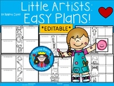 A+ Little Artists: Easy Plans...Editable Papers For Art