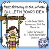 A Little Birdie Music In Our Schools Month Bulletin Board Idea