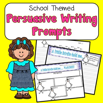 Persuasive Writing Prompts Fun School-Themed Topics