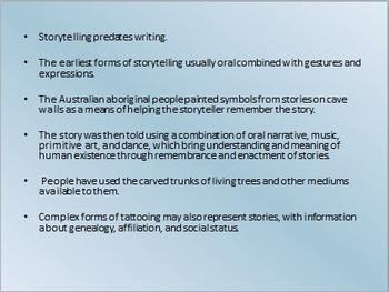 A Little Bit about Storytelling