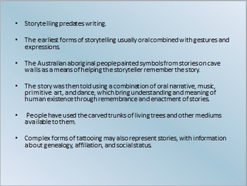 A Little Bit about Storytelling