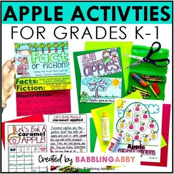 Apples Unit: Fall Activities for Kindergarten, First Grade, Second Grade