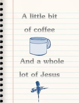 {FREEBIE} A Little Bit of Coffee Poster