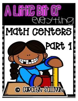 A Little Bit of Everything: Kindergarten Math Centers Part 1
