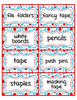 Classroom Supply Labels: Editable: A Little Bit of Whimsy Collection