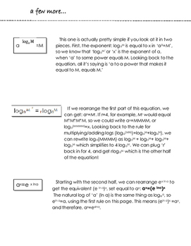 A Little Bit on Logarithms