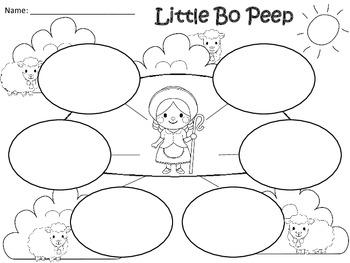 A+  Little Bo Peep... Three Graphic Organizers
