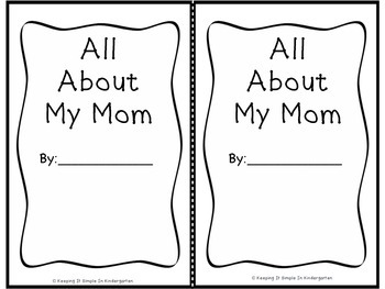 A Little Book for Little Readers and Writers - All About My Mom