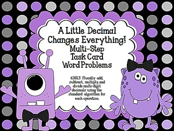 A Little Decimal Changes Everything!  CCSS 6.NS.3