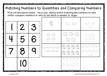 A Little Extra Help, Please! {Kindergarten Math Take-Home Notes and Materials}