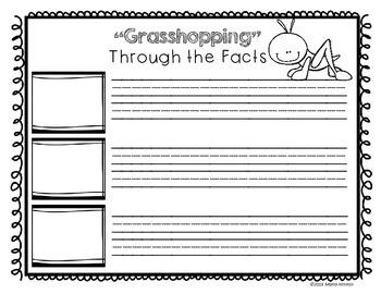 A Little Grasshopper - Craft and Writing Activities
