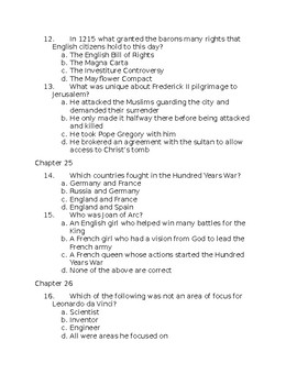 A Little History of the World Test 21-40