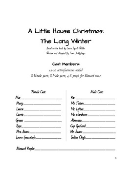 A Little House Christmas: The Long Winter Play