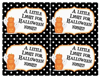A Little Light for Halloween Night Tags