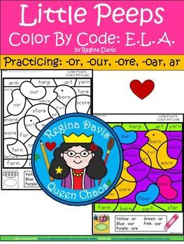 A+ Little Peepst: Color By Code E.L.A.