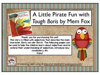 A Little Pirate Fun with Tough Boris by Mem Fox