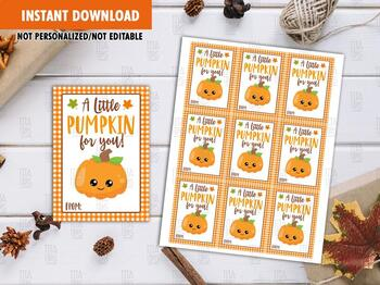 A Little Pumpkin For You Favor Tags, Thanksgiving Printable Card