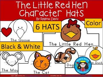 A+ Little Red Hen Character Hats