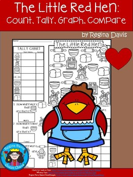 A+ Little Red Hen... Count, Tally, Graph, and Compare