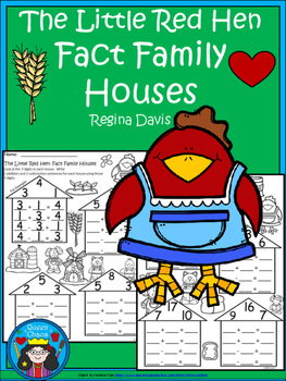 A+ Little Red Hen: Fact Family Houses