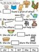 A+ Little Red Hen Sentences: Fill In The Blank