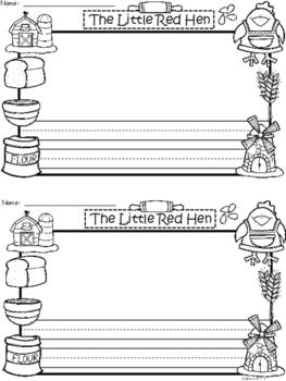 A+ Little Red Hen Writing Paper