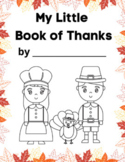 Thanksgiving Booklet in English and Spanish