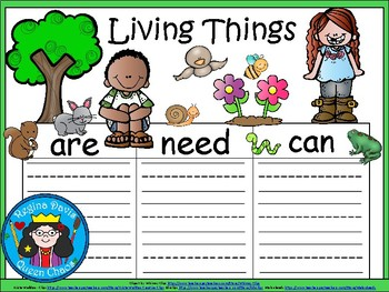 A+ Living Things...Three Graphic Organizers