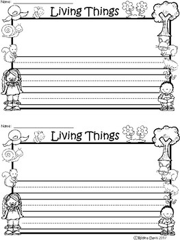 A+ Living Things ... Writing Paper