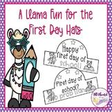 A Llama Fun First Day of School Hats