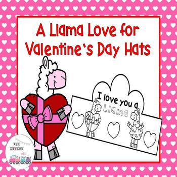 A Llama Love for Valentine's Day Hats