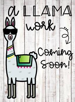 A Llama Work Coming Soon