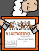 A Llamazing Math and Literacy Unit for First Grade
