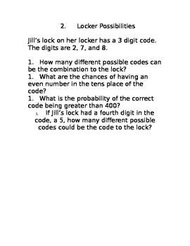 A Lock on Combinations